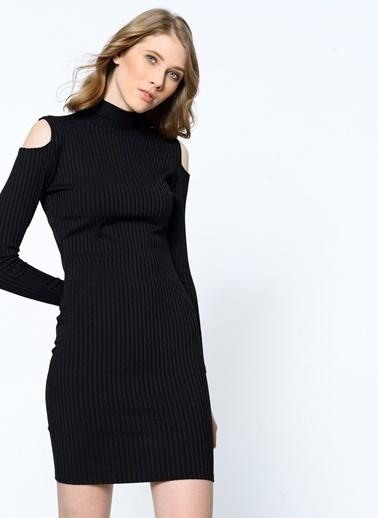 Girls On Film Elbise Siyah